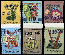 1982, Guyana, 786-89 U.a., ** - Guyana (1966-...)