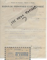70 - Haute-saône - VESOUL - Facture MAISON DU PRISONNIER ET DU DEPORTE DU 70000 - 1945 - REF 130A - France