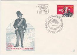 FDC 1974 - Mi.1454 (6) : 125 Jahre Österreichische Gendarmerie , SST 1150 Wien - 1945-.... 2de Republiek