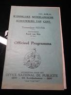 Gent 1925 Schouwburg Gent - Programma's