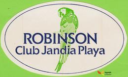 Voyo  ROBINSON CLUB Jandia Playa Fuerteventura Spain Hotel Label 1980s Vintage Parrot - Etiquettes D'hotels