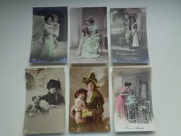 Beau Lot De 60 Cartes Postales De Fantaisie  Mère + Enfant      Mooi Lot Van 60 Postkaarten  Moeder + Kind - 60 Scans - Postkaarten