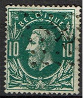30  Obl  LP 242 Melle  + 10 - 1869-1883 Leopold II.
