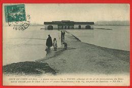 01437 - INDRE ET LOIRE - TOURS - Crue Du Cher 1910 - Champ De Tir Du Meneton Envahi Par Le Cher- - Tours