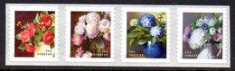 Etats-Unis USA 5060/63 Flore, Pivoine, Hortensia, Camélia, Hydrangeas - Plants