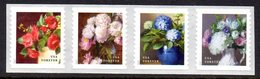 Etats-Unis USA 5060/63 Flore, Pivoine, Hortensia, Camélia, Hydrangeas - Ohne Zuordnung
