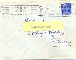 ALGERIE ORAN R.P. ORAN OMec RBV 6-5-1958 L'ALGERIE / NOUVELLE / VIVRA FRANÇAISE - Algeria (1924-1962)