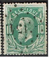 30  Obl  LP 154  Gouvy  + 10 - 1869-1883 Leopold II.