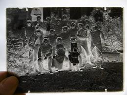 MILITAIRES GROUPE TELEGRAPHISTES DU FORT DE MONTLANDON PLAQUE DE VERRE PHOTOGRAPHE MERGER A HORTES  17.5 X 12.5 - Diapositiva Su Vetro