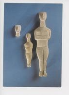 """""""art Des Cyclades"""" Attribué Au Maître De Goulandris Tête Et Figurine Féminine Bras Croisés (env 2800/2300 Av JC) - Historia"""