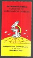 PAKISTAN BROCHURE  INTERNATIONAL CONGRESS OF MATHEMATICAL SCIENCE 1975 - Pakistan