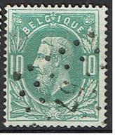 30  Obl  LP 57  Brugelette  + 10 - 1869-1883 Leopold II.