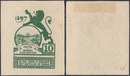 BELGIQUE 1897 ESSAIS AU TYPE EXPO DE BRUXELLES 1897 EN VERT   (DD) DC-6375 - Essais & Réimpressions
