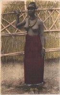 SENEGAL AFRIQUE OCCIDENTALE - Fortier 1027 - Colorisée - Jeune Femme Seins Nus - Animée - Belle - Sénégal