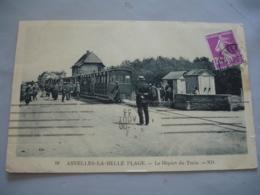 Cpa Asnelles Belle Plage Depart Du Train - Frankrijk