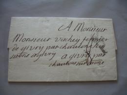 Lettre 1773 Pour Givry  P  Cachet Noir - Marcophilie (Lettres)