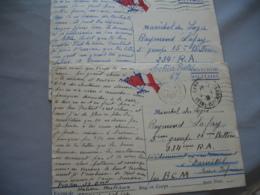 Lot De 6 Guerre 39.45 Franchise Militaire 3 Drapeau Central - Storia Postale