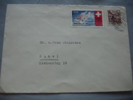 Suisse Guerre Armee Air 1939 Timbre Vignette Flag Def 26 Lettre - Poste Militaire