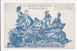 CP MILITARIA ILLUSTRATION La Derniere Operation De Guillaume - Humor