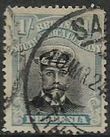 Rhodesia, B.S.A.Co.,  GVR, 1913, Admiral, 6d, Black &blue (shade?), Die III, Perf 14, Used - Southern Rhodesia (...-1964)