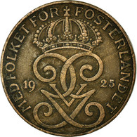 Monnaie, Suède, Gustaf V, 2 Öre, 1925, TTB, Bronze, KM:778 - Sweden