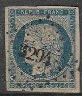 N° 4 Oblitéré PETITS CHIFFRES - AIN - ST TRIVIER DE COURTE - PC 3294 - 1849-1876: Période Classique