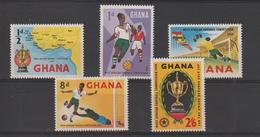 Ghana 1959 Football 54-58 5 Val ** MNH - Ghana (1957-...)