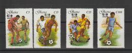 Ghana 1987 Football Mexico 86 914-17 4 Val ** MNH - Ghana (1957-...)