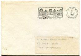 SEINE ET MARNE De FONTAINEBLEAU  Flamme En P.P.   Sur Env. De 1986 - Poststempel (Briefe)