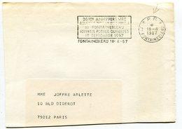 SEINE ET MARNE De FONTAINEBLEAU  Flamme En P.P.   Sur Env. De 1987 - Poststempel (Briefe)