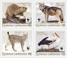 Liechtenstein 1815/18 WWF, Castor, Loup, Lynx, Cigogne - Ungebraucht