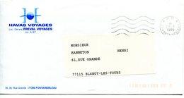 SEINE ET MARNE De FONTAINEBLEAU  Flamme En P.P.   Sur Env. De 1995 - Poststempel (Briefe)