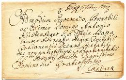 1770 UNA CURIOSA LETTERA DA DECIFARARE - 1. ...-1850 Prefilatelia