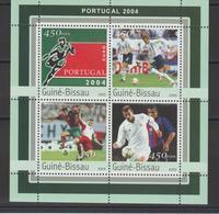 Guinée Bissau 2004 Football Portugal 2004 1090-93 4 Val ** MNH - Guinea-Bissau