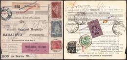 France- Bulletin D'expédition Yv259+262+272 Perforés 271+TP Fiscaux De Mulhouse 21 IV.1942 Vers Sarajevo (RD190)DC5703 - Alsace-Lorraine