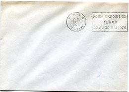 SEINE ET MARNE De MEAUX   Flamme En P.P.   Sur Env. De 1976 - Marcophilie (Lettres)