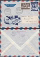 """Belgique- Lettre Illustrée """" BEPITEC"""" COB 810A De Gent 12/07/1949 Vers Mexico  (RD201)DC5714 - Airmail"""