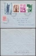 Belgique- Lettre COB 851+946+949/51 De Gent 22/07/1954 Vers Sydney  (RD202)DC5715 - Belgique
