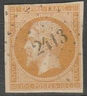 PETITS CHIFFRES - PYRENEES ORIENTALES - LE PERTHUS - PC 2413 - Storia Postale (Francobolli Sciolti)