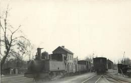 CHEMINS DE FER DE LA SOMME - Gare De Bussy, Locomotive N°3861 Photo Laurent Format Carte Ancienne, En 1949. - Bahnhöfe Mit Zügen