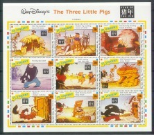 NaoA334b WALT DISNEY DRIE KLEINE BIGGETJES THREE LITTLE PIGS WOLF WILD DOG * OPDRUK OVERPRINT * ST. VINCENT 1992 PF/MNH - Disney