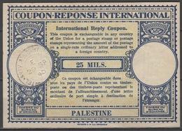 PALESTINE Lo12 25 MILS. EarlyInternational Reply Coupon Reponse Antwortschein IAS IRC O TEL AVIV ALLENBY ROAD 29.9.40 - Palästina