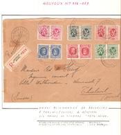 REF237/ TP TB 1-2-3-5-6-9 S/ Devant De Lettre - Briefvoorzijde Recommandée C.BXL 4/12/1930 > Suisse Thalvil (Zurich) - Belgique