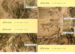 China Taiwan 5 Tarjeta Máxima Nº Michel 1835/38 (Maximum Cards) - 1949 - ... República Popular