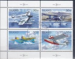 +Iceland 1993. Postplanes. Bloc Of 4. Michel 791-94. Oblitere / Cancelled - 1944-... Republic