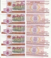 BIELORUSSIE 5 RUBLES 2000 UNC P 22 ( 10 Billets ) - Belarus