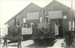 DÉPÔT EN CORRÈZE Machines 2 Et 3; Photo Laurent Format Carte Ancienne. - Eisenbahnen