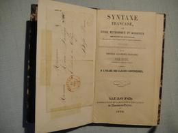 Syntaxe Française Par M.Chapsal 1848  Imprimerie Mons - 1801-1900