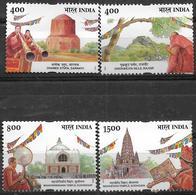 INDIA- 2002- BUDDHA MAHOTSAVA FESTIVAL- Complete MNH Set Of 4V- Religion- Buddhism- Gautama Buddha - Buddhism