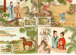 China Taiwan 4 Tarjeta Máxima Nº Michel 2066/69 (Maximum Cards) - 1949 - ... Volksrepubliek